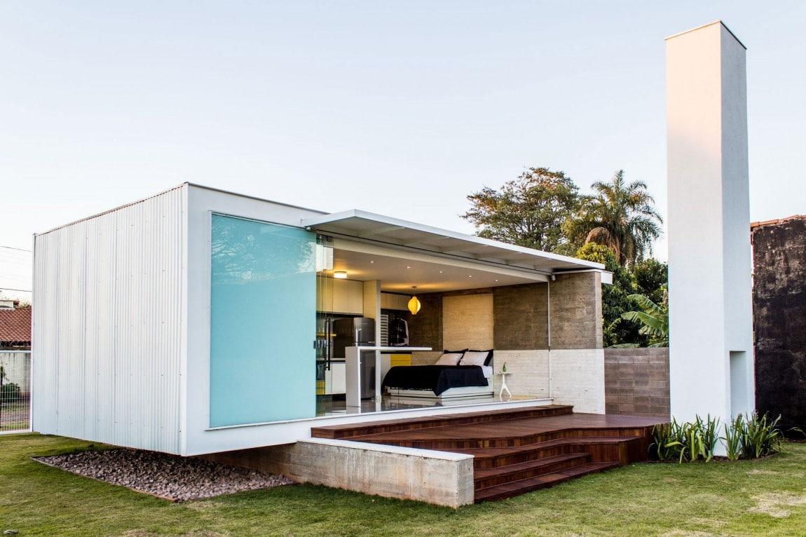 estilo y confort en casas construidas en pequeos espacios