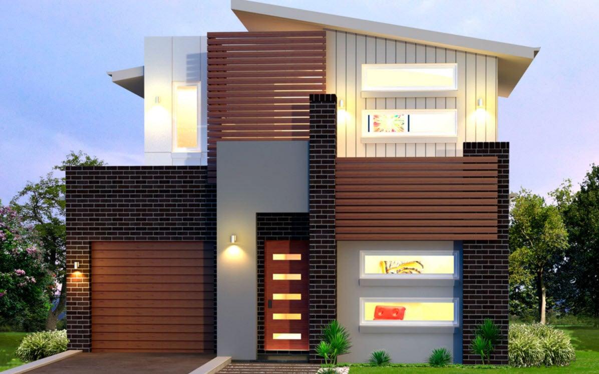 Planos de casas de dos pisos modernas construye hogar - Materiales para fachadas de casas ...