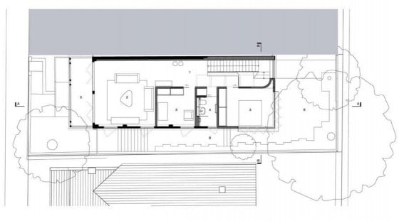 Plano de casa de dos pisos de casa pequeña - segundo nivel