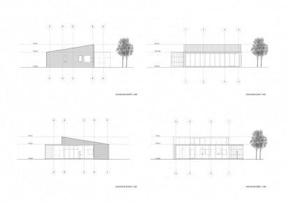 Planos de elevación de casa pequeña de bajo costo
