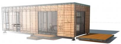 Sistema estructural de pequeña casa