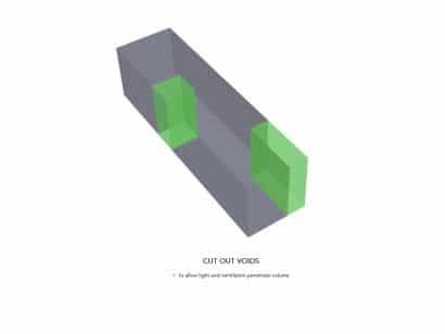 Diagrama de ingreso de luz y aire a casa