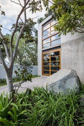 Diseño de fachada de hormigón