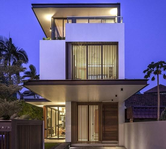 Planos de casas angostas y largas for Fachadas de casas modernas wikipedia