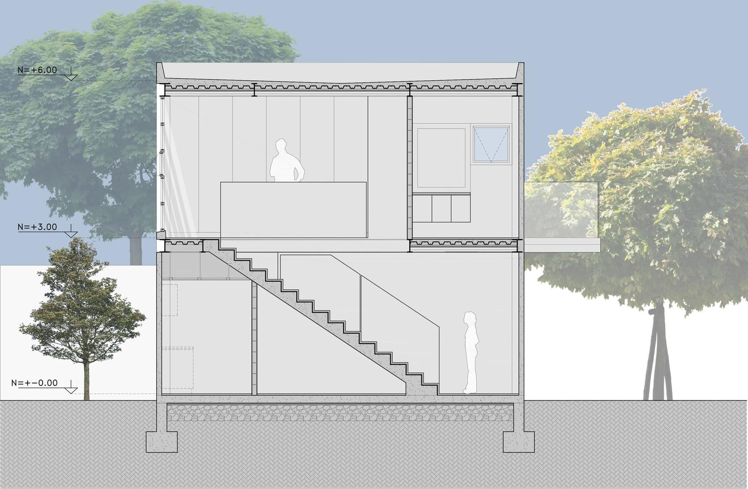 Peque a casa de dos pisos de 95 m construye hogar - Escalera metalica prefabricada ...