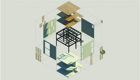 Sistema estructural de pequeña casa de hormigón