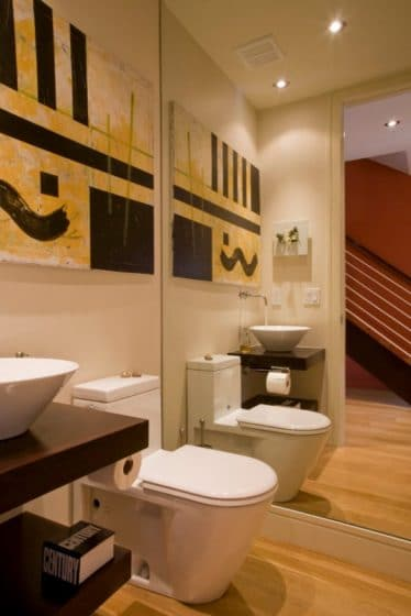 Decoración de cuarto de baño pequeño