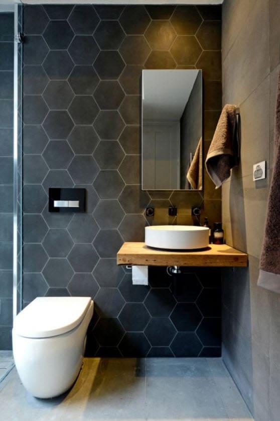 cuarto de bao pequeo con cermicas hexagonales with cuarto bao