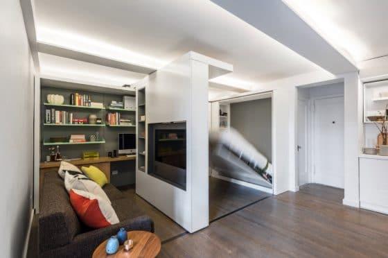 Diseño de apartamento paredes móviles 002
