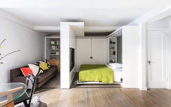 Diseño de apartamento paredes móviles 003