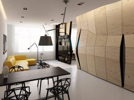 Diseño sala comedor moderno departamento