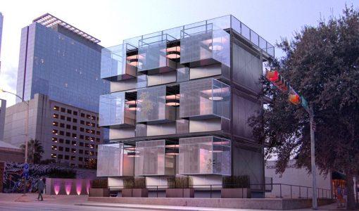 Edificio de pequeños departamentos móviles