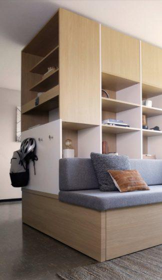 Módulo madera para departamento pequeño