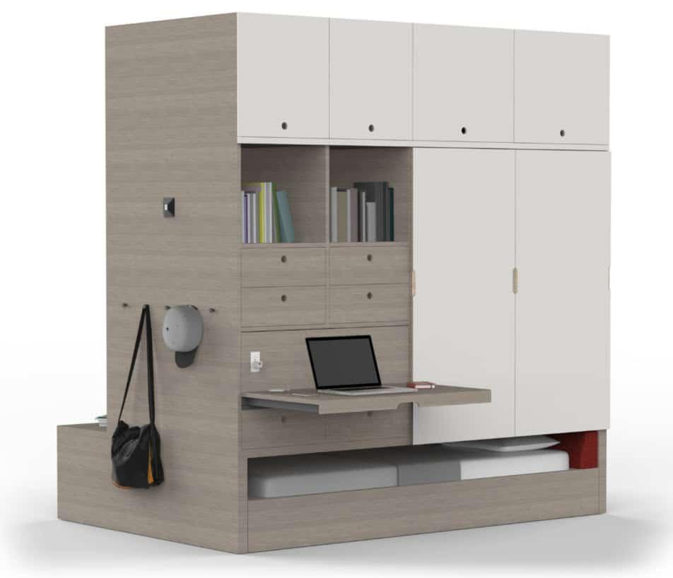 Mueble especial para departamentos peque os construye hogar for Muebles para departamentos pequenos