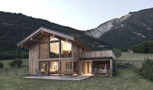 diseo de hermosa casa de campo de madera forma tpica con elementos modernos que la convierten en nica