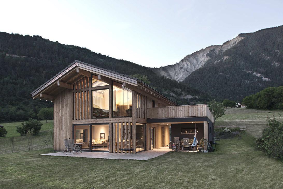 Dise o de casa de campo de madera construye hogar - Casas madera pequenas ...