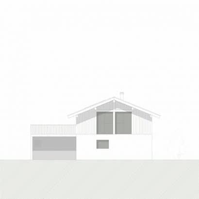 Plano de fachada norte casa campo
