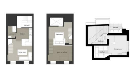 Planos pequeño departamento