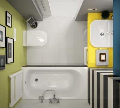 Vista de planta de cuarto de baño pequeño 004 kolo