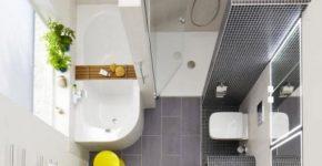 Vista de planta de cuarto de baño pequeño 005 Dani Wein