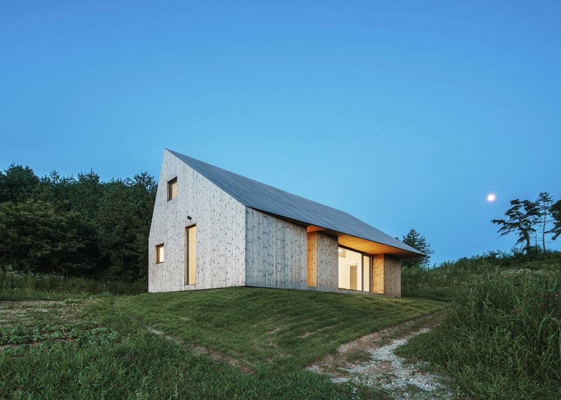 Dise o moderna casa de campo madera construye hogar for Casa moderna de campo