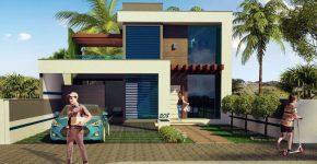 diseo casa moderna de dos pisos hermosa fachada combina elementos de hormign madera y cristal