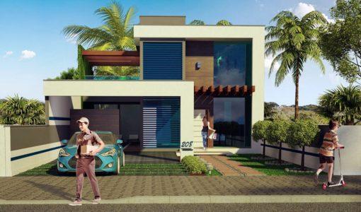 Diseo de una casa finest diseo de casa moderna de dos for Casa moderna ud