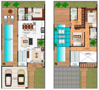 Planos casa moderna de dos pisos