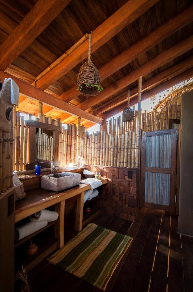 Dise o de caba a de playa de bamb y madera construye hogar for Diseno de habitacion rustica