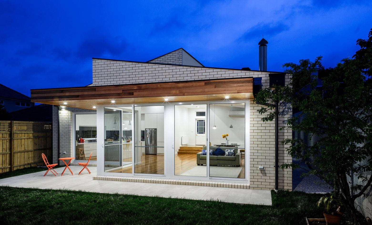 Dise o de casa moderna de un piso planos y fachadas for Viviendas modernas de una planta