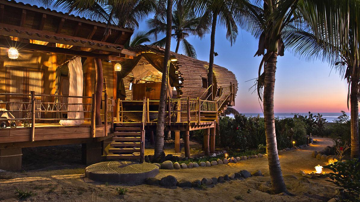 Dise o de caba a de playa de bamb y madera construye hogar for Disenos de cabanas
