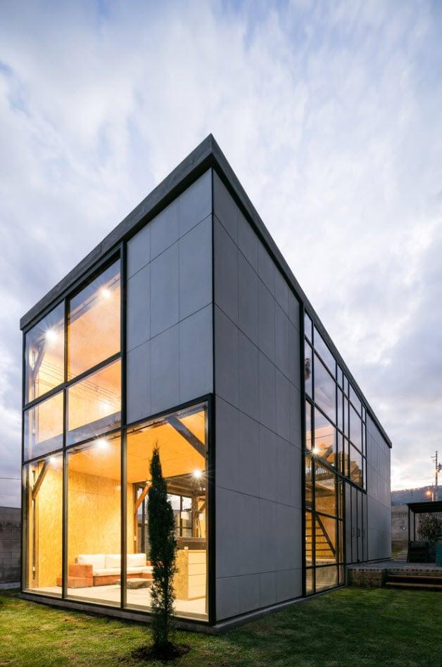 Dise o casa econ mica de dos pisos construye hogar for Casa minimalista economica