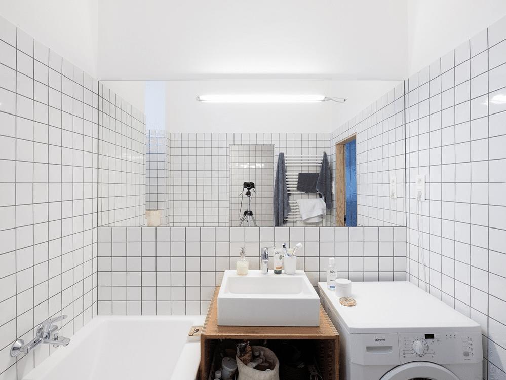 Diseno De Baño Sencillo:Diseño de departamento pequeño, expone acabados de construcción