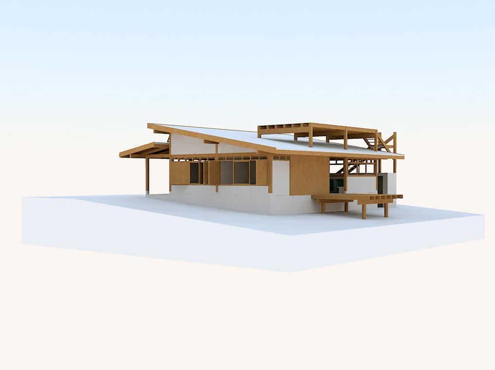 Dise o de casa de campo peque a de madera construye hogar - Casas con estructura de madera ...