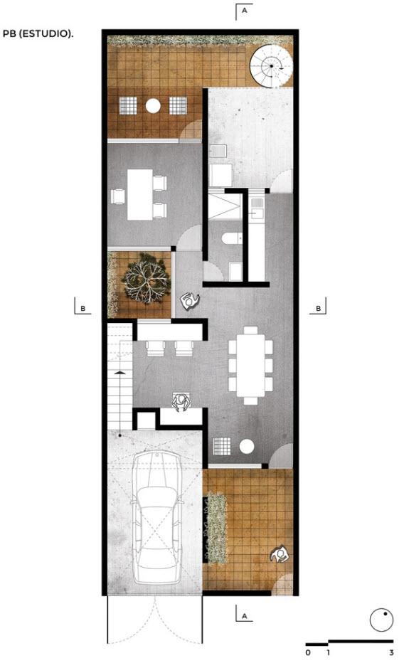Planos casa de dos pisos econ mica construye hogar - Imagenes de planos de casas de un piso ...