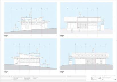 Planos elevación casa campo