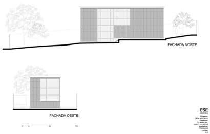 Planos de elevación casa dos pisos