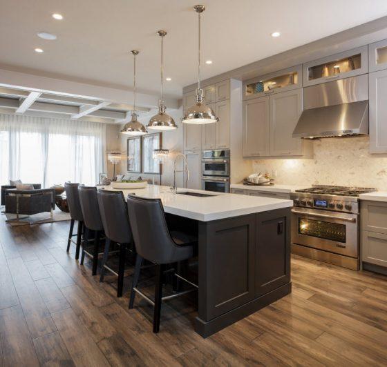 Diseño de cocina con isla elegante