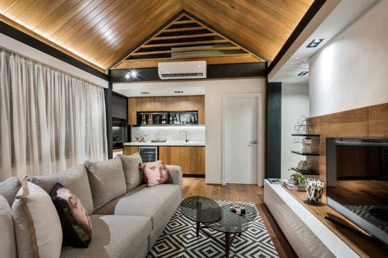 Diseño de sala estar en azotea