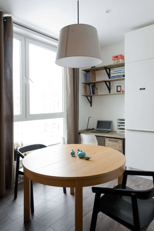 Espacio de comedor departamento peque o construye hogar for Comedor ahorrador de espacio