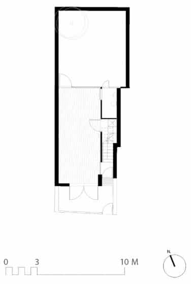 Plano de casa pequeña dos pisos mas azotea