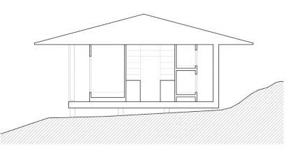 Plano de corte casa campestre