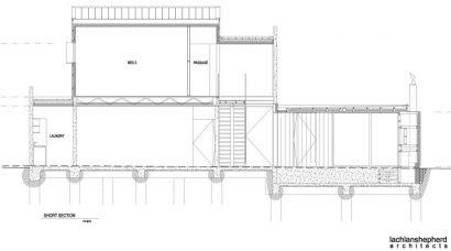 Planos de corte casa dos niveles
