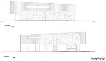 Planos de elevación casa dos niveles
