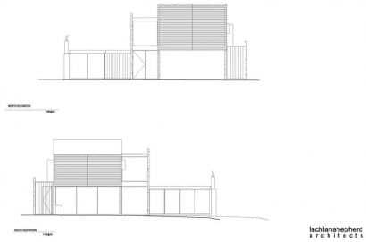 Planos de elevación casa dos plantas
