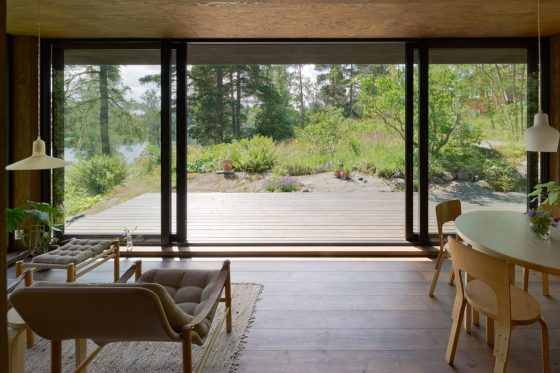 Diseño de sala comedor de casa de campo