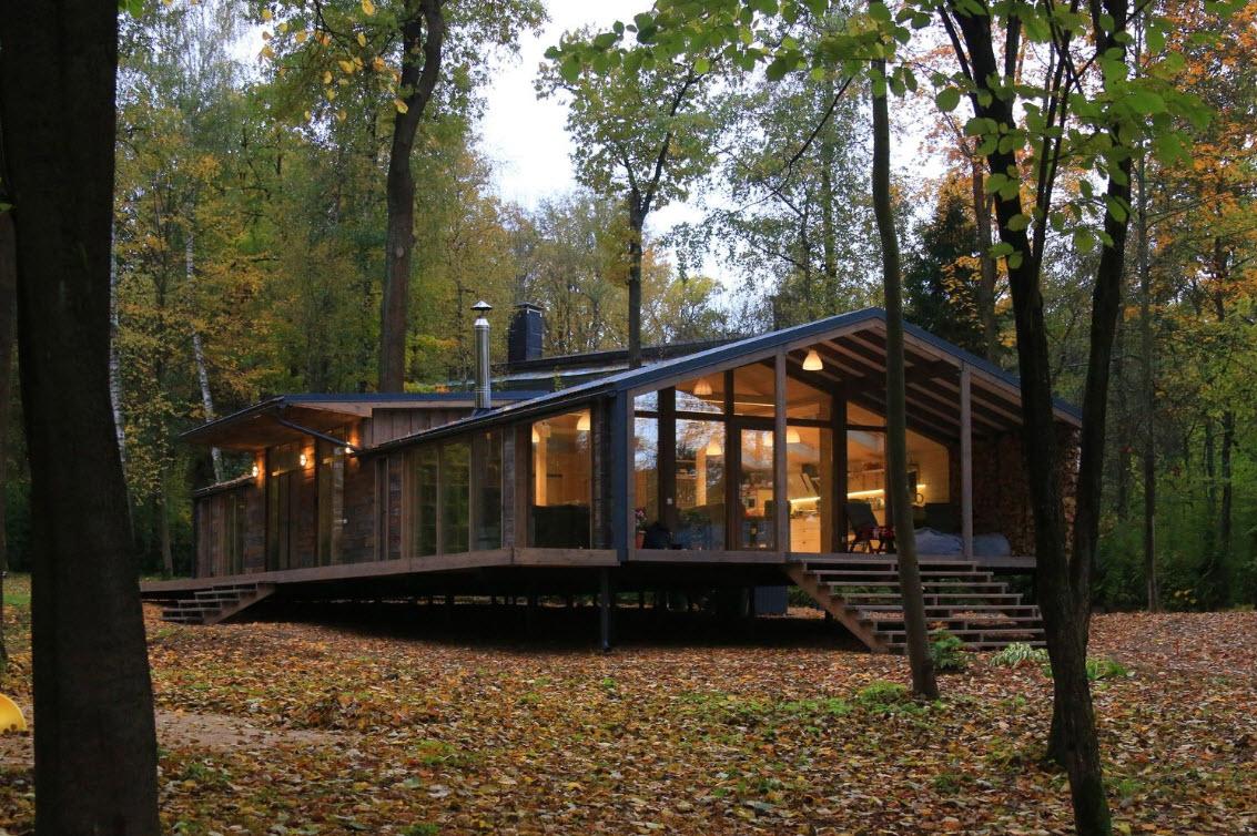 Dise o casa de campo moderna de madera construye hogar for Diseno de casas de campo modernas