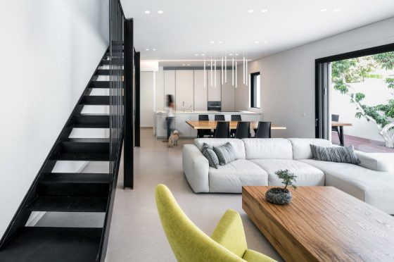 Diseño de sala comedor y cocina modernas