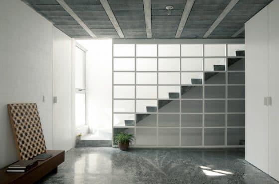 Diseño de escaleras modernas de hormigón