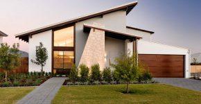 diseo de fachada e interiores de casa de un piso que combina lo moderno y clsico